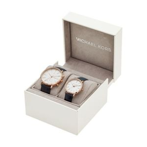 Michael Kors His and Her Gift Set Leather Watch